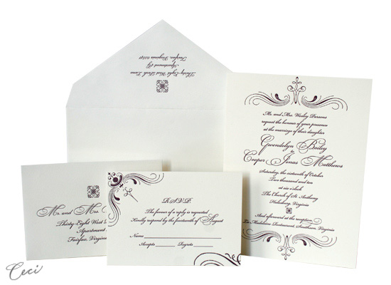 Mademoiselle - Luxury Wedding Invitations - Ceci Ready-to-Order Collection - Ceci Wedding - Ceci New York