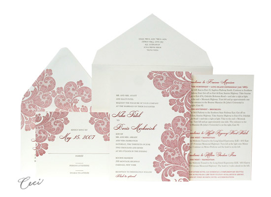 Neha - Luxury Wedding Invitations - Ceci Ready-to-Order Collection - Ceci Wedding - Ceci New York