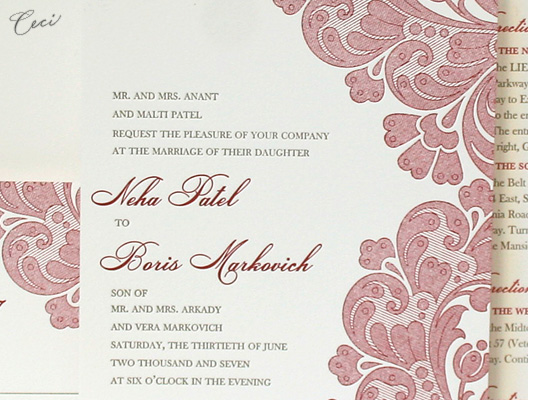 Neha - Details - Luxury Wedding Invitations - Ceci Ready-to-Order Collection - Ceci Wedding - Ceci New York