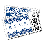 Orientalia Luxury Wedding Postage Stamps - Ceci Wedding - Ceci New York
