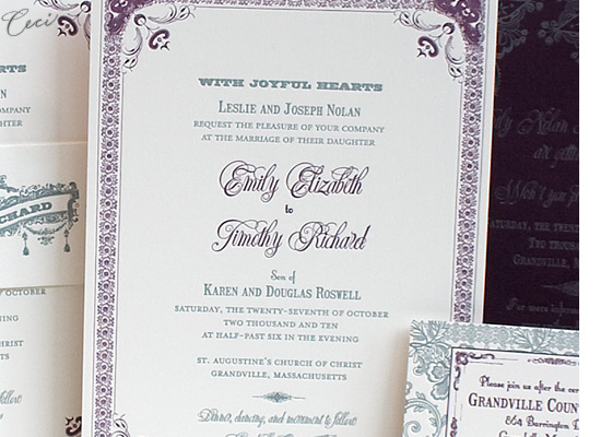 Ornamental - Details - Luxury Wedding Invitations - Ceci Ready-to-Order Collection - Ceci Wedding - Ceci New York