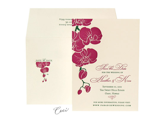 Aloha - Luxury Wedding Save the Dates - Ceci Ready-to-Order Collection - Ceci Wedding - Ceci New York