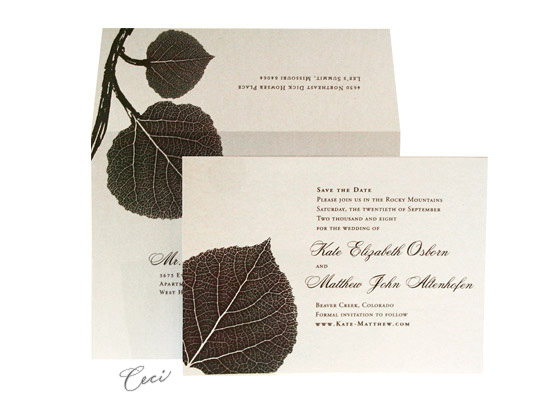 Aspen - Luxury Wedding Save the Dates - Ceci Ready-to-Order Collection - Ceci Wedding - Ceci New York