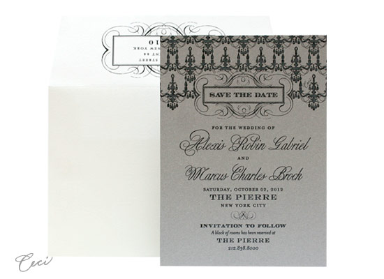 Astaire - Luxury Wedding Save the Dates - Ceci Ready-to-Order Collection - Ceci Wedding - Ceci New York