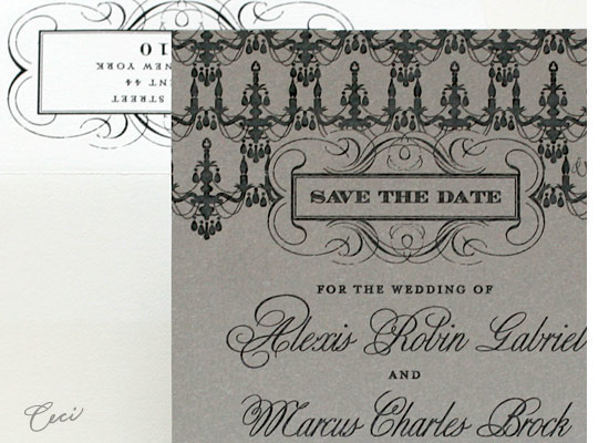 Astaire - Details - Luxury Wedding Save the Dates - Ceci Ready-to-Order Collection - Ceci Wedding - Ceci New York