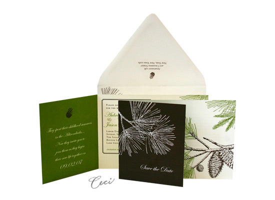 August - Luxury Wedding Save the Dates - Ceci Ready-to-Order Collection - Ceci Wedding - Ceci New York