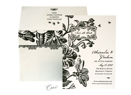 English Garden - Luxury Wedding Save the Dates - Ceci Ready-to-Order Collection - Ceci Wedding - Ceci New York