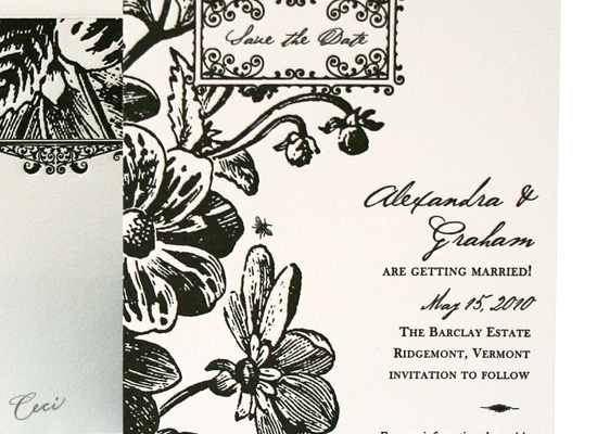 English Garden - Details - Luxury Wedding Save the Dates - Ceci Ready-to-Order Collection - Ceci Wedding - Ceci New York