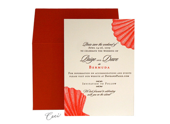 Hidden Paradise - Luxury Wedding Save the Dates - Ceci Ready-to-Order Collection - Ceci Wedding - Ceci New York