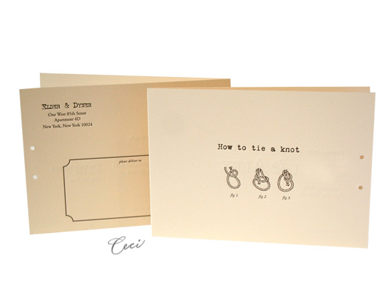 How To Tie A Knot - Luxury Wedding Save the Dates - Ceci Ready-to-Order Collection - Ceci Wedding - Ceci New York