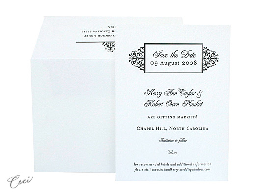 Jayne - Luxury Wedding Save the Dates - Ceci Ready-to-Order Collection - Ceci Wedding - Ceci New York