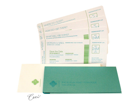 Jet Set - Luxury Wedding Save the Dates - Ceci Ready-to-Order Collection - Ceci Wedding - Ceci New York