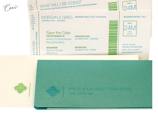Jet Set - Details - Luxury Wedding Save the Dates - Ceci Ready-to-Order Collection - Ceci Wedding - Ceci New York