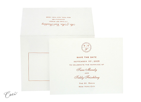 Monogram - Luxury Wedding Save the Dates - Ceci Ready-to-Order Collection - Ceci Wedding - Ceci New York