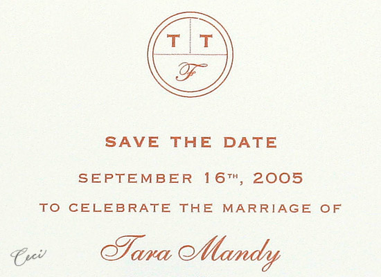 Monogram - Details - Luxury Wedding Save the Dates - Ceci Ready-to-Order Collection - Ceci Wedding - Ceci New York