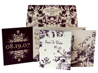Morning Glory Luxury Wedding Save the Dates - Ceci Ready-to-Order Collection - Ceci Wedding - Ceci New York