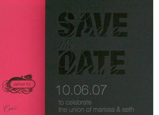 Muse - Details - Luxury Wedding Save the Dates - Ceci Ready-to-Order Collection - Ceci Wedding - Ceci New York