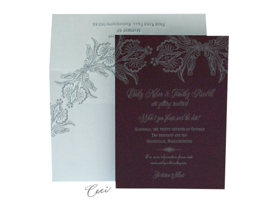 Ornamental - Luxury Wedding Save the Dates - Ceci Ready-to-Order Collection - Ceci Wedding - Ceci New York