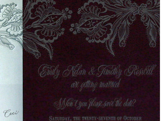 Ornamental - Details - Luxury Wedding Save the Dates - Ceci Ready-to-Order Collection - Ceci Wedding - Ceci New York