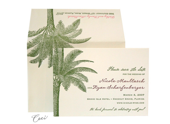 Palm Court - Luxury Wedding Save the Dates - Ceci Ready-to-Order Collection - Ceci Wedding - Ceci New York