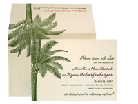 Palm Court - Save the Dates - Ceci Ready-to-Order Collection - Ceci Wedding - Ceci New York