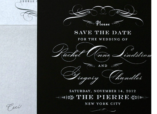 Radiance - Details - Luxury Wedding Save the Dates - Ceci Ready-to-Order Collection - Ceci Wedding - Ceci New York