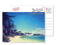 Beach 1 - Vintage Postcards - Ceci Ready-to-Order Collection - Ceci Wedding - Ceci New York