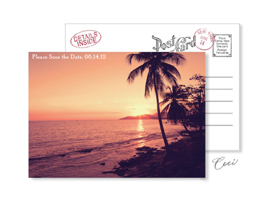 Beach 8 - Luxury Wedding Vintage Postcards - Ceci Ready-to-Order Collection - Ceci Wedding - Ceci New York
