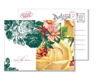 Garden 6 - Vintage Postcards - Ceci Ready-to-Order Collection - Ceci Wedding - Ceci New York