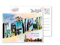 New York 1 - Vintage Postcards - Ceci Ready-to-Order Collection - Ceci Wedding - Ceci New York