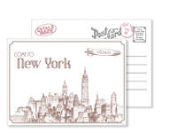 New York 2 - Vintage Postcards - Ceci Ready-to-Order Collection - Ceci Wedding - Ceci New York