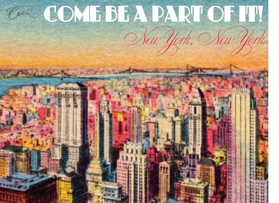 New York 5 - Details - Luxury Wedding Vintage Postcards - Ceci Ready-to-Order Collection - Ceci Wedding - Ceci New York
