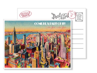 New York 5 - Vintage Postcards - Ceci Ready-to-Order Collection - Ceci Wedding - Ceci New York