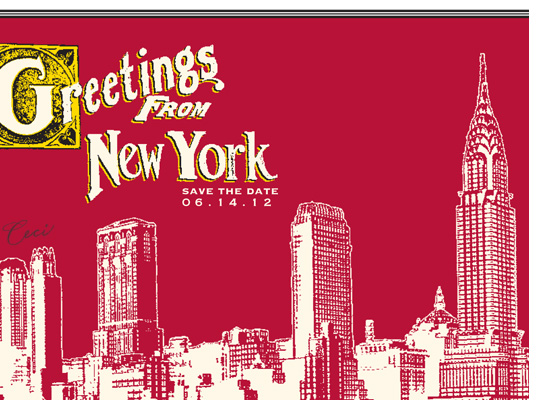 New York 6 - Details - Luxury Wedding Vintage Postcards - Ceci Ready-to-Order Collection - Ceci Wedding - Ceci New York