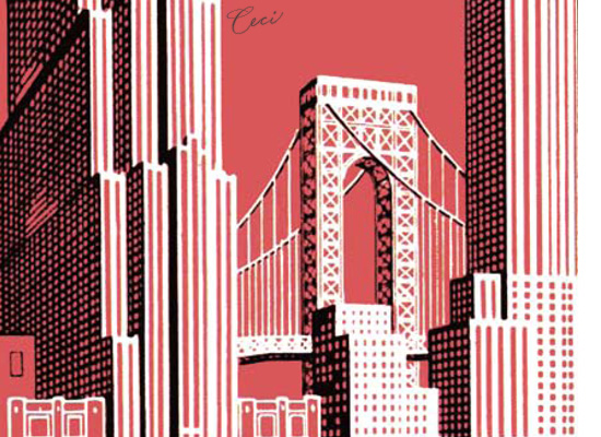 New York 9 - Details - Luxury Wedding Vintage Postcards - Ceci Ready-to-Order Collection - Ceci Wedding - Ceci New York