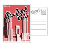 New York 9 - Vintage Postcards - Ceci Ready-to-Order Collection - Ceci Wedding - Ceci New York